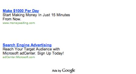 Microsoft adCenter Google Adwords