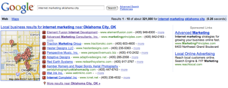 Google Local Internet Marketing Oklahoma City