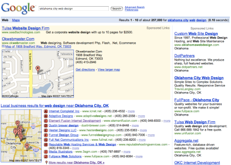Google Local Adwords Ad + Google Maps Expansion