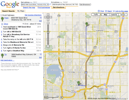 Google Local Adwords Ad + Google Maps Expansion + Directions