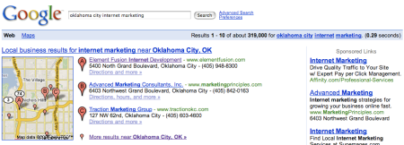 Google Local Oklahoma City Internet Marketing