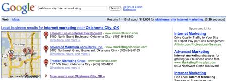Google Local Oklahoma City Internet Marketing