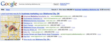 Google Local Business Marketing Oklahoma City