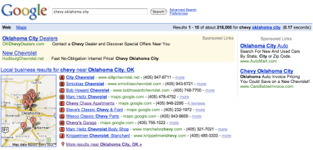 Google Local Chevy Oklahoma City