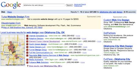 Google Local Adwords Ad + Google Maps