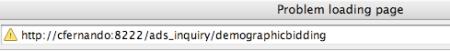 Problem Loading Page