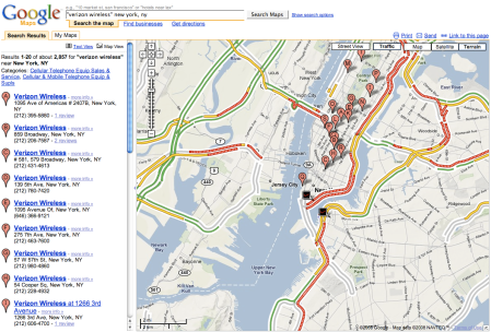 Google Verizon NY Traffic View