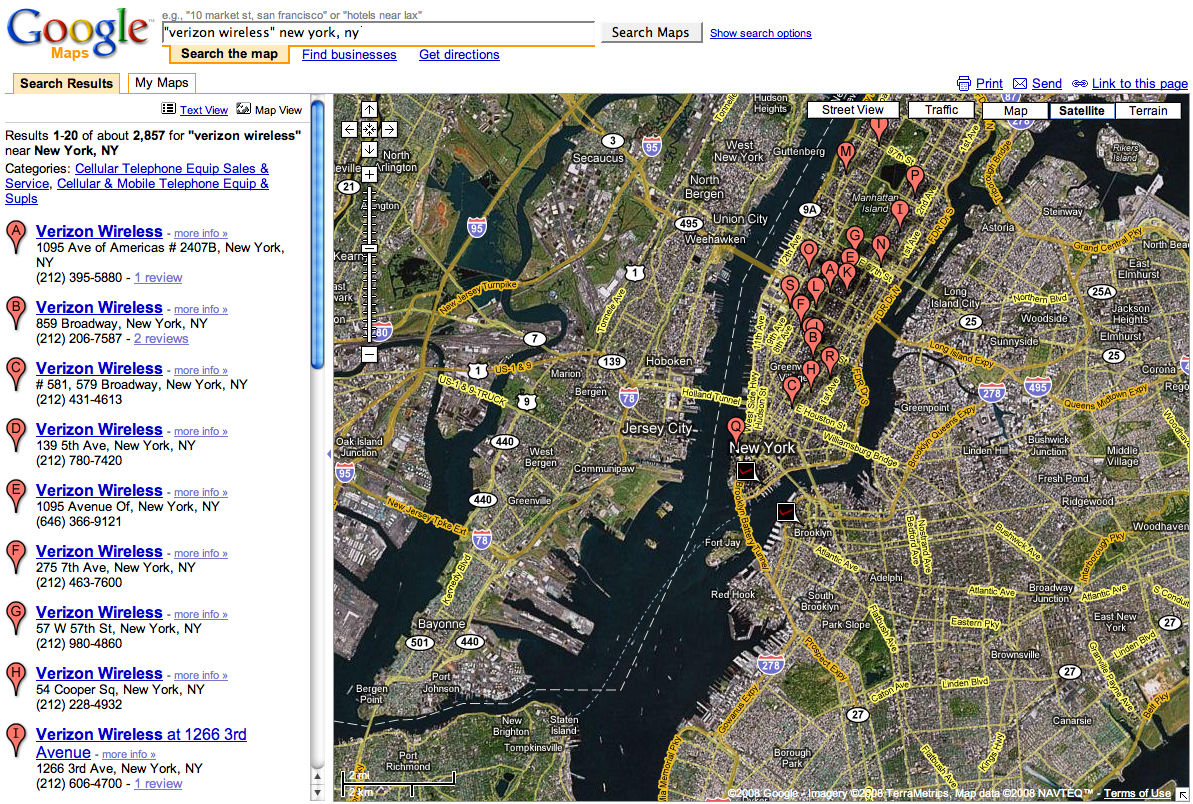 Microhoo Vs Google The Battle For Audience And Keystrokes - Nyc map google earth
