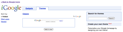 iGoogle Theme Search