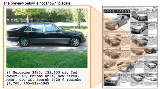 Old Car Classified Ads