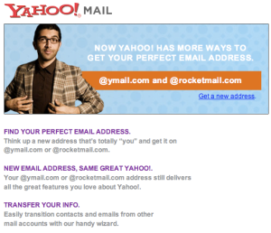 Ymail Rocketmail