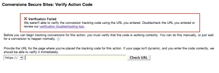 Conversion Code Verification Failure