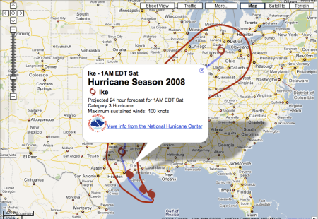 Hurricane Ike 24 Hour Forecast