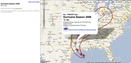Hurricane Ike 36 Hour Forecast