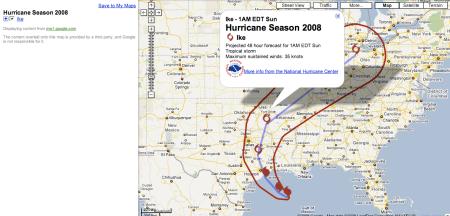 Hurricane Ike 48 Hour Forecast
