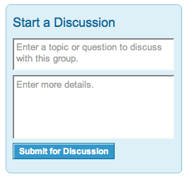 Linkedin Groups Start a Discussion