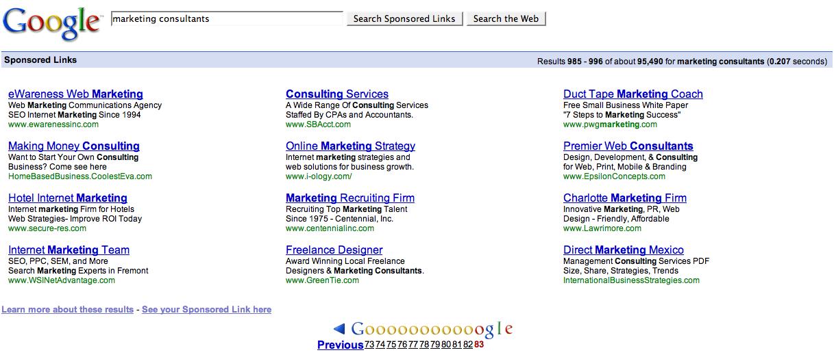Marketing   Search Marketing Communications