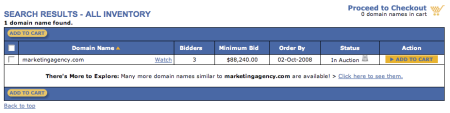 MarketingAgency.com Auction
