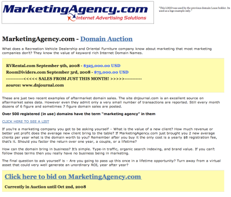 MarketingAgency.com Site