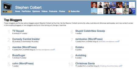 Stephen Colbert Bloggers Boxxet