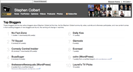 Stephen Colbert Bloggers
