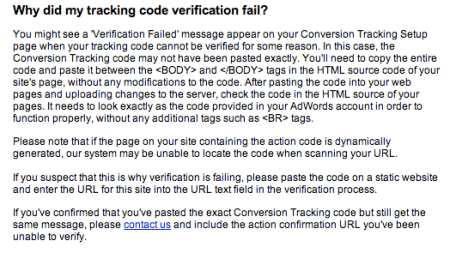 Tracking Code Explanation