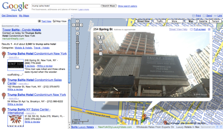 Trump Soho Hotel Google Maps Street View