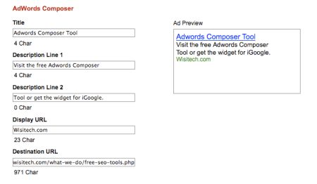 Adwords Ad Composer Tool