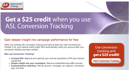 Ask Conversion Tracking