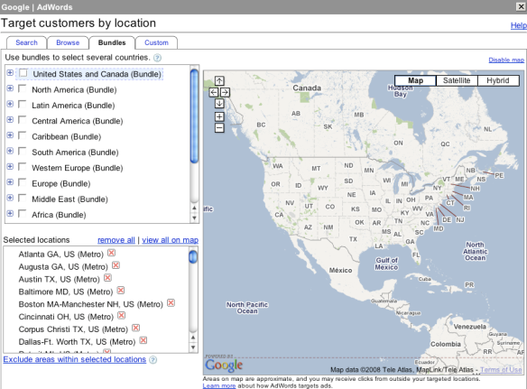 Search Advertising Geo Targeting Options | Search Marketing