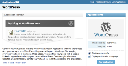 Linkedin WordPress