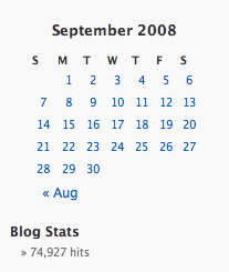 September 2008 Total Blog Traffic