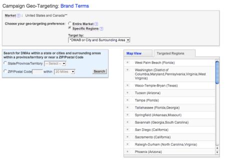 Yahoo Search Advertising Geotargeting