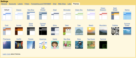 30 New Gmail Themes