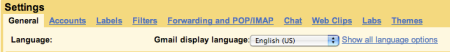 Gmail Settings Theme Tab