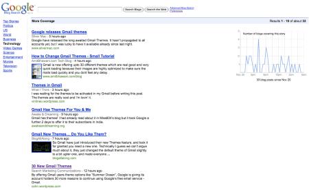 Google Blog Search More Coverage