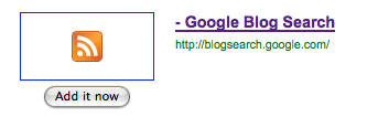 Google Blog Search RSS