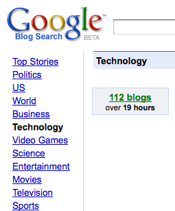Google Blog Search Technology