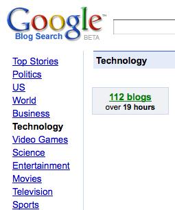 Google Blog Search Technology