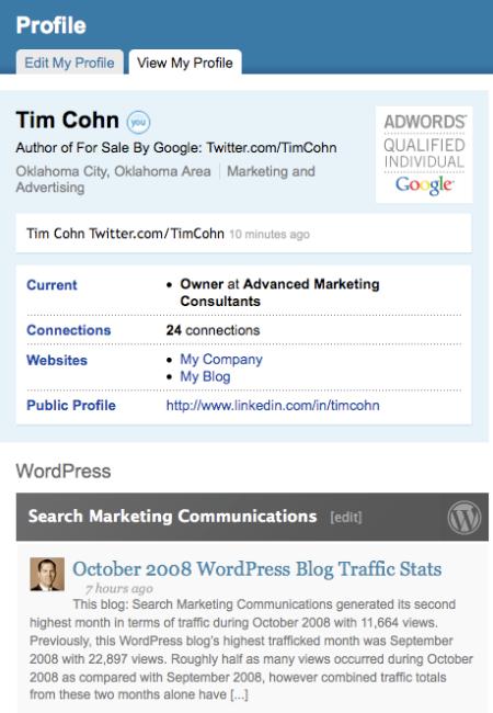 Linkedin TimCohn