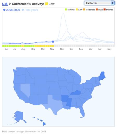Flu Map | Search Marketing Communications California Flu Map on