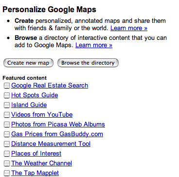 Personalize Google Maps