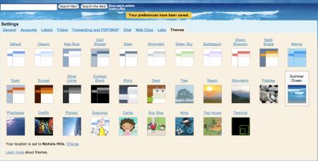 Summer Ocean Gmail Theme