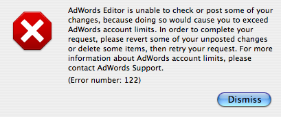 Adwords Editor Account Limits