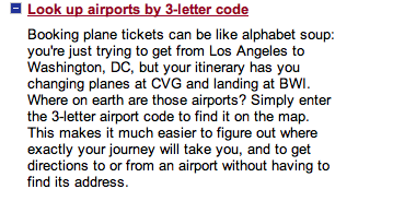 Airport Codes Lookup Map
