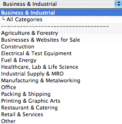eBay Business Industrial Searches