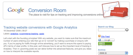 Google Conversion Room Blog