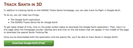 Google Earth Santa Tracker