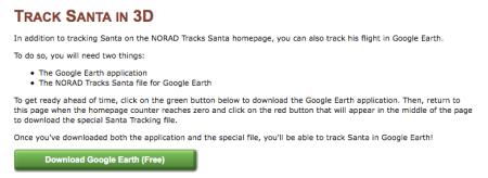Google Earth Santa Tracker