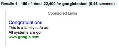 GoogleTest Ad